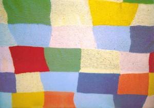 """Woolwork"" by Celia Baker (2006); Acrylic yarn, 200cm x 180cm; (c) Daniel Baker"
